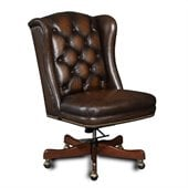 Hooker Furniture Seven Seas Tufted Executive Chair in Sarzana Fortess