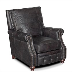 Hooker Furniture Seven Seas Leather Recliner Chair in Old Saddle Black
