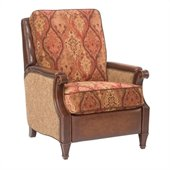 Hooker Furniture Seven Seas Recliner Chair in Dinushi Wine