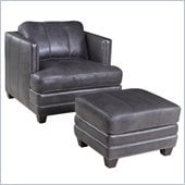Hooker Furniture Seven Seas Chair and Ottoman in Zorro Carbon