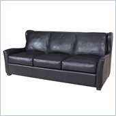 Hooker Furniture Seven Seas Stationary Sofa in Noveau Black