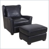 Hooker Furniture Seven Seas Chair and Ottoman in Noveau Black
