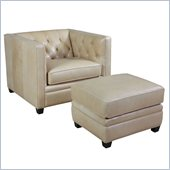Hooker Furniture Seven Seas Chair and Ottoman in Marilyn Memories