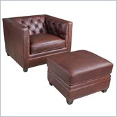 Hooker Furniture Seven Seas Chair and Ottoman in Etosha Onkoshi