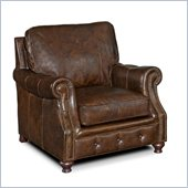 Hooker Furniture Seven Seas Stationary Chair in Old Saddle Cocoa
