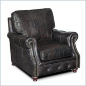 Hooker Furniture Seven Seas Stationary Chair in Old Saddle Black