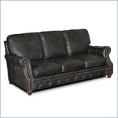 Hooker Furniture Seven Seas Stationary Sofa in Old Saddle Black