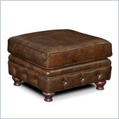Hooker Furniture Seven Seas Ottoman in Old Saddle Cocoa