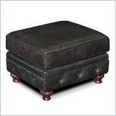 Hooker Furniture Seven Seas Ottoman in Old Saddle Black