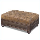 Hooker Furniture Seven Seas Drawer Ottoman in Spice Island Map
