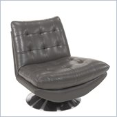 Hooker Furniture Seven Seas Modern Swivel Chair in Coastal Grey