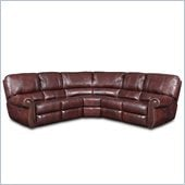 Hooker Furniture Seven Seas 3 Pc Power Sectional in Tuscany Hillside