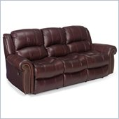 Hooker Furniture Seven Seas Sofa with 2 Recliners in Burgundy