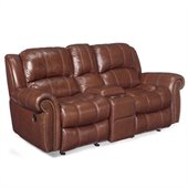 Hooker Furniture Seven Seas Reclining Sofa with Console in Cognac