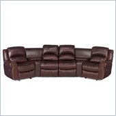 Hooker Furniture Seven Seas 6-Piece Home Theater Group in Burgundy