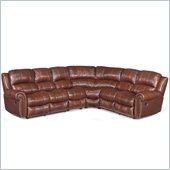 Hooker Furniture Seven Seas 4 Piece Sectional in Cognac