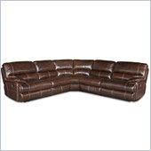 Hooker Furniture Seven Seas 5 Piece Recliner Sectional in Espresso