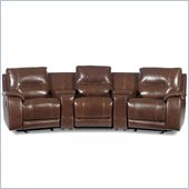 Hooker Furniture Seven Seas 5 Piece Home Theater Seating in Tobacco