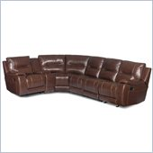 Hooker Furniture Seven Seas 6 Piece Reclining Sectional in Tobacco