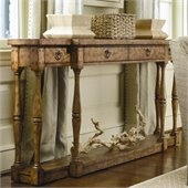 Hooker Furniture Sanctuary Four Drawer Thin Console in Drift