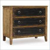 Hooker Furniture Sanctuary 3 Drawer Nightstand in Drift and Ebony