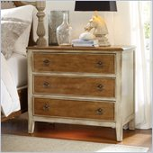Hooker Furniture Sanctuary Three-Drawer Nightstand in Dune and Beach