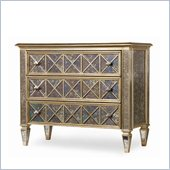 Hooker Furniture Sanctuary 3-Drawer Diamond Mirror and Gold Chest