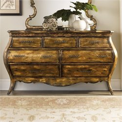 Hooker Furniture Sanctuary Seven Drawer Dresser in Bling