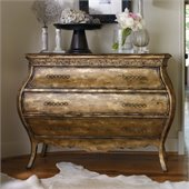 Hooker Furniture Sanctuary Three-Drawer Bombe Chest in Bling