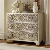 Hooker Furniture Sanctuary Fretwork Chest in Pearl Essence
