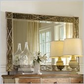 Hooker Furniture Sanctuary Landscape Mirror with X Motif in Dune