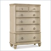 Hooker Furniture Primrose Hill Six Drawer Chest in Trellis White