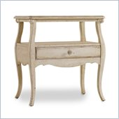 Hooker Furniture Primrose Hill One-Drawer Cabriole Night Table in Trellis White