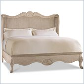 Hooker Furniture Primrose Hill Cane Shelter Bed in Trellis White