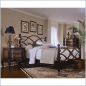 Hooker Furniture Preston Ridge Low Post Bed 4 Piece Bedroom Set