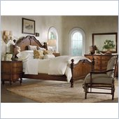 Hooker Furniture Primrose Hill Panel Bed 4 Piece Bedroom Set