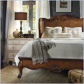 Hooker Furniture Primrose Hill Brown Shelter Bed 4 Piece Bedroom Set