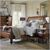Hooker Furniture Primrose Hill Lattice Sleigh Bed 6 Piece Bedroom Set