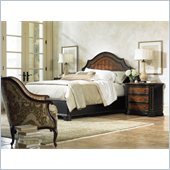Hooker Furniture Grandover Panel Bed 4 Piece Bedroom Set