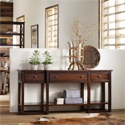 Hooker Furniture Lorimer Sofa Table in Warm Brown