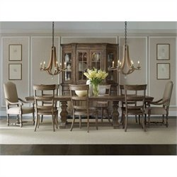 Hooker Furniture Sorella 9 Piece Rectangular Dining Table Set in Brown