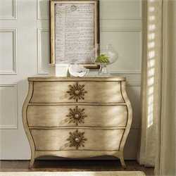 Hooker Furniture Sanctuary 3-Drawer Bombe Accent Chest in Light Oak