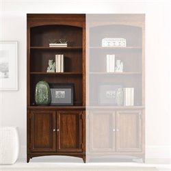 Hooker Furniture Latitude 2-Door 3-Shelf Bunching Bookcase in Walnut