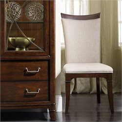 Hooker Furniture Palisade Upholstered Dining Chair in Walnut and Taupe