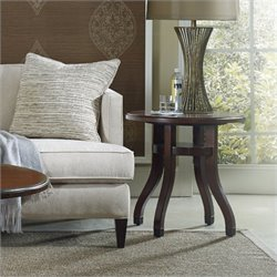 Hooker Furniture Palisade Round End Table in Walnut