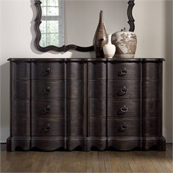 Hooker Furniture Corsica 8-Drawer Double Dresser in Dark Wood
