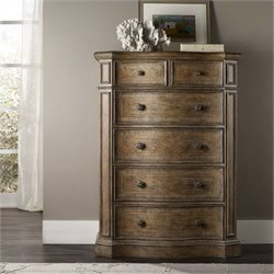 Hooker Furniture Solana 6-Drawer Accent Chest in Light Oak