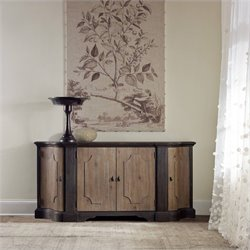 Hooker Furniture Corsica 4-Door Credenza in Light and Dark Wood