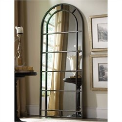 Hooker Furniture Corsica Arched Metal Floor Mirror in Dark Wood