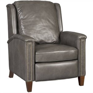 Hooker Furniture Leather Recliner Chair in Empyrean Charcoal
